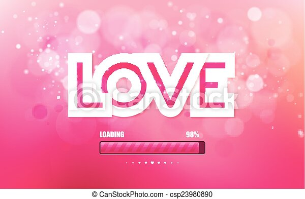 Vector inscription love on a pink background - csp23980890