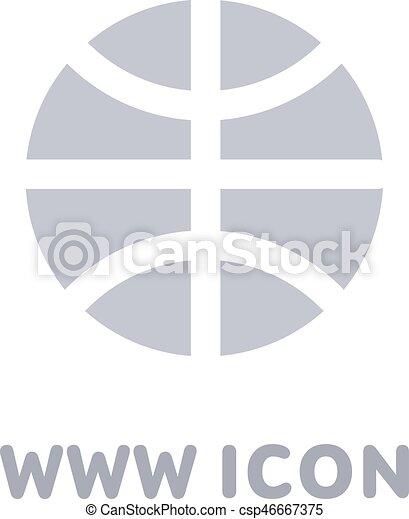 Vector internet globe icon