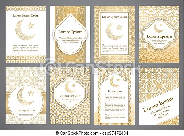 Vector islamic ethnic invitation design or background gold color vector islamic ethnic invitation design or background stopboris Images