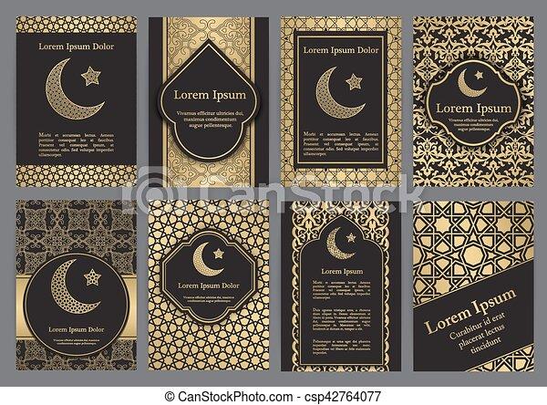 Vector islamic ethnic invitation design or background gold vector islamic ethnic invitation design or background stopboris Choice Image