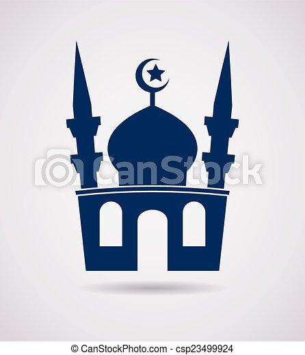 vector islamic mosque icon - csp23499924