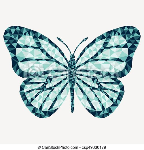 Vector isolated butterfly. - csp49030179
