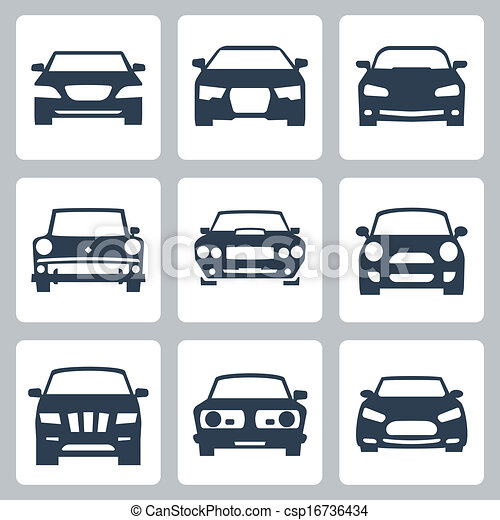 Vector isolated cars icons set - csp16736434