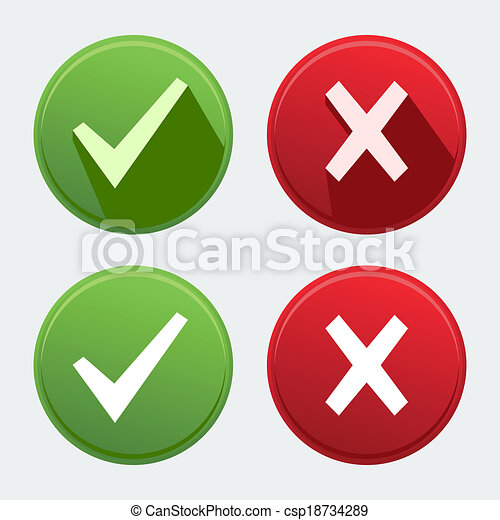 Vector isolated check mark icons - csp18734289