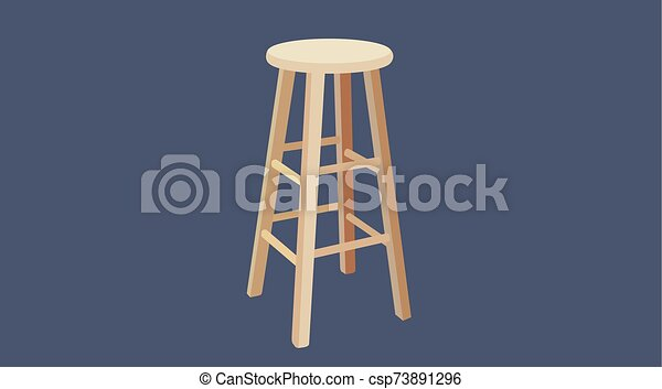 Phenomenal Vector Isolated Illustration Of A Wooden Stool Ibusinesslaw Wood Chair Design Ideas Ibusinesslaworg