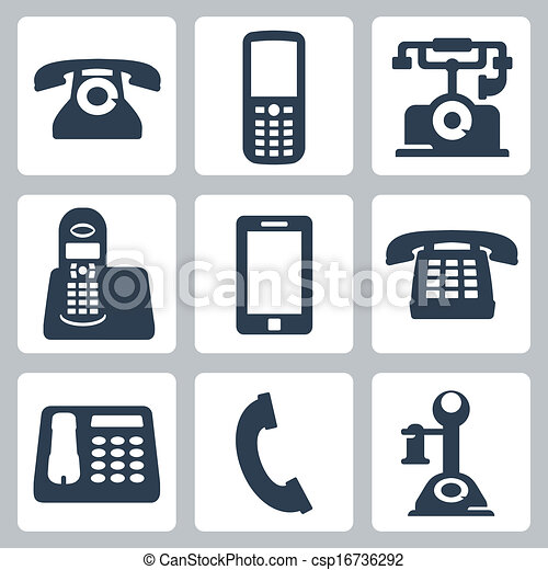 Vector isolated phones icons set - csp16736292