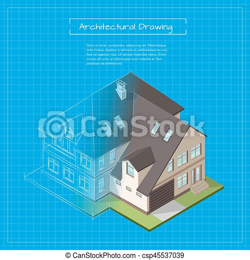Vector isometric 3d illustration of city building blueprint vector isometric 3d illustration of city building blueprint architectural background or project malvernweather Images