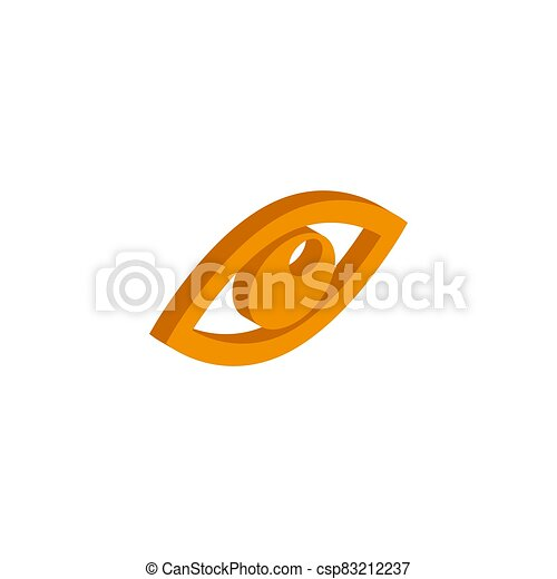 Vector isometric eye icon on a white background - csp83212237