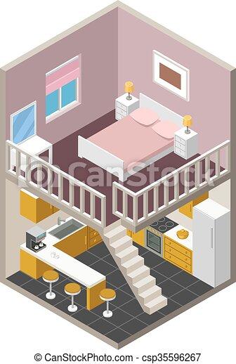 Vector isometric house - csp35596267