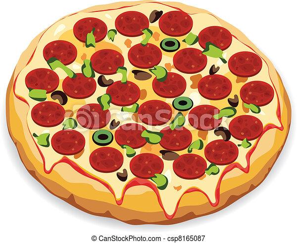 vector italian pizza - csp8165087