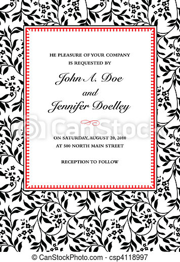 vector ivy invitation frame vector frame with sample text perfect