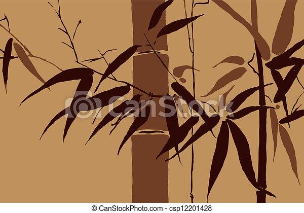 vector, -, japanner, beweegreden, 2, bamboe - csp12201428