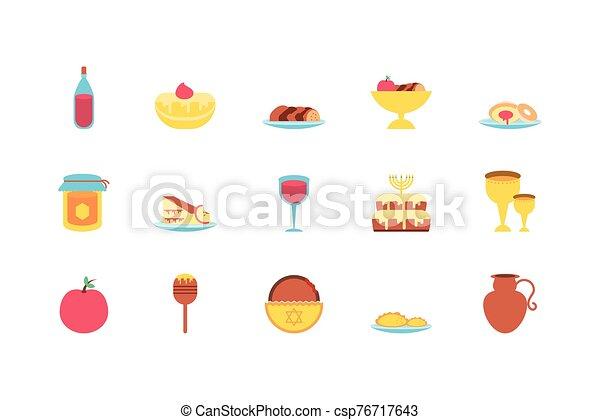 vector, judío, aislado, diseño, icono, conjunto - csp76717643