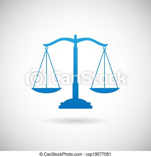 El símbolo de la justicia escala la plantilla de diseño de iconos en ilustración de vectores grises de fondo - csp19577081