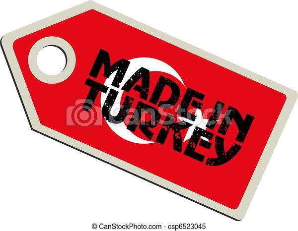 vector label Made in Turkey - csp6523045