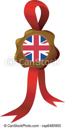 vector label  of England - csp6480950