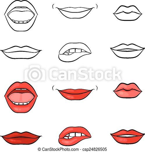 vector  labios  mujer  boca  siluetas mujer  conjunto grandma clip art images grandma clip art free