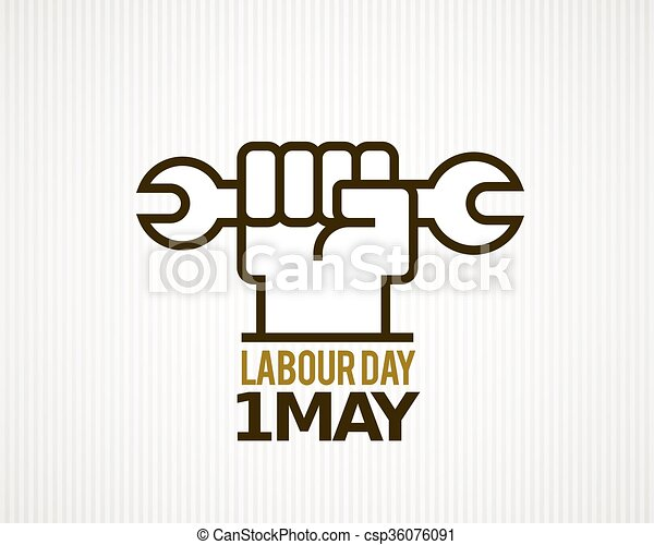 Vector Labour Day - csp36076091