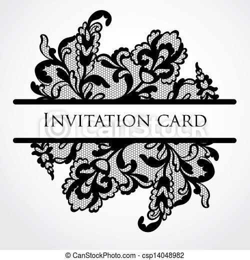 Vector lace card - csp14048982