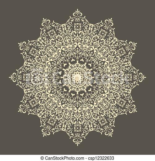 Vector lacy napkin - csp12322633