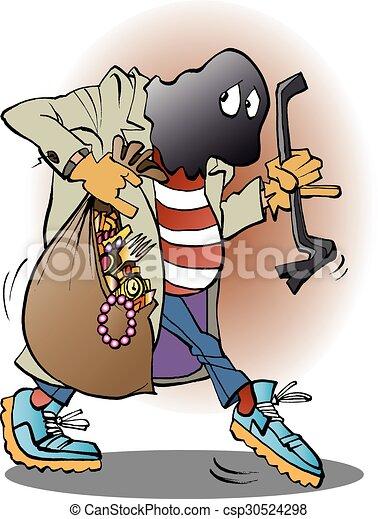 Ilustración vectorial de un ladrón - csp30524298
