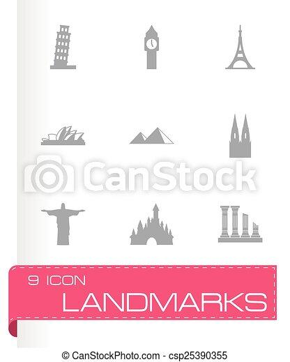 Vector landmarks icon set - csp25390355