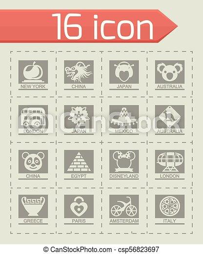 Vector Landmarks icon set - csp56823697