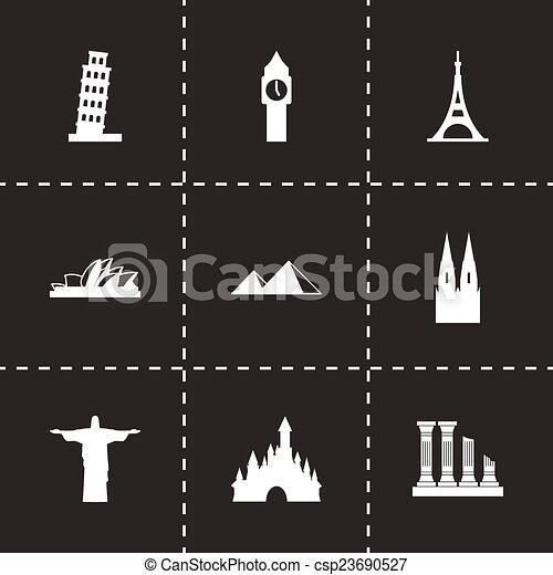 Vector landmarks icon set - csp23690527