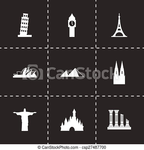 Vector landmarks icon set - csp27487700