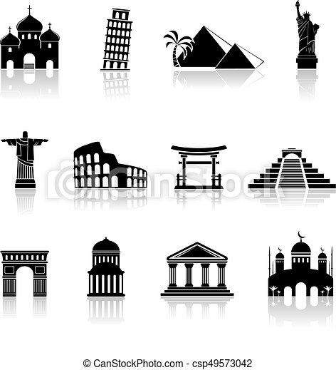 Vector landmarks icons set - csp49573042