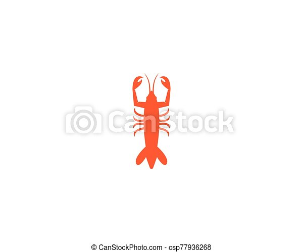 vector, langosta, ilustración, icono - csp77936268