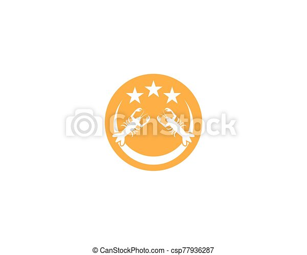 vector, langosta, ilustración, icono - csp77936287