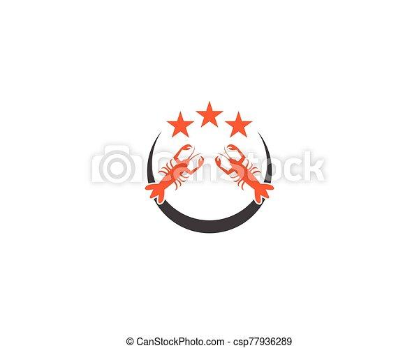 vector, langosta, ilustración, icono - csp77936289