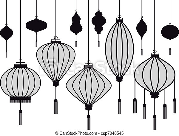 vector lantern - csp7048545