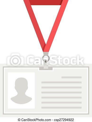 Vector Lanyard Badge Template Creative Flat Design Original - Lanyard template