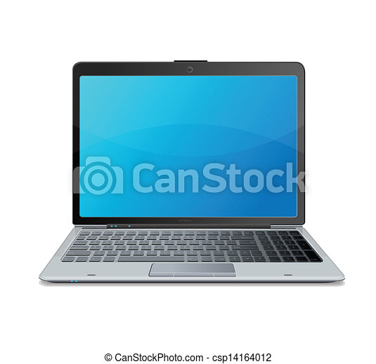 Vector laptop isolated on white - csp14164012