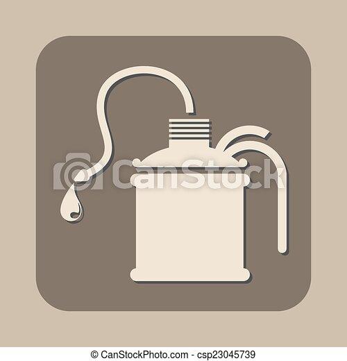 El petróleo puede vectorizar el icono - csp23045739