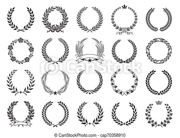 Vector laurel wreath set - csp70358910