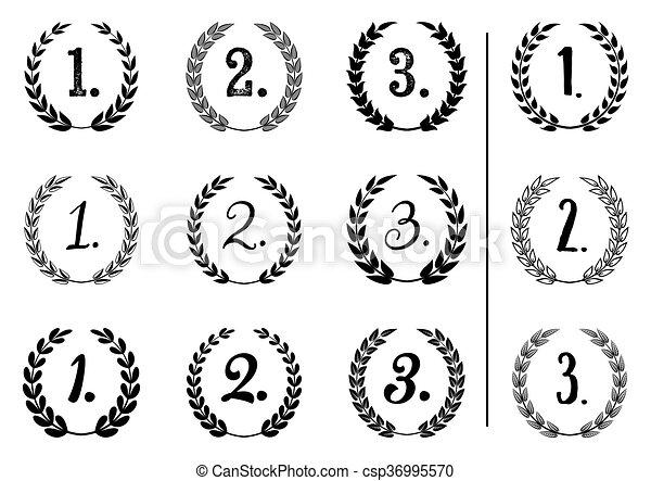 Vector laurel wreaths collection - csp36995570