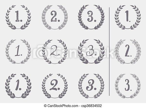 Vector laurel wreaths collection - csp36834502