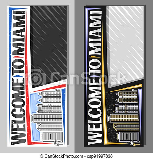 Vector layouts for Miami - csp91997838