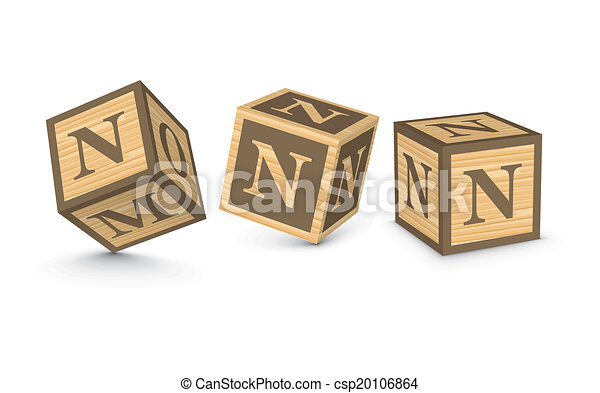 block letter n vector letter n wooden blocks letter n wooden alphabet 36859