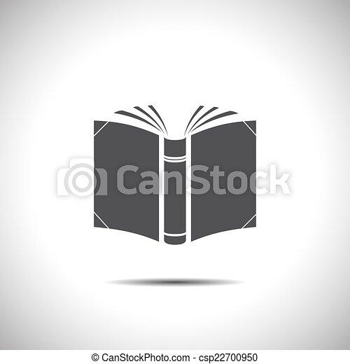 Abre el icono vector de libro - csp22700950
