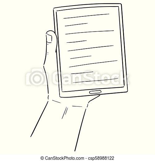 Vector de libro electrónico - csp58988122