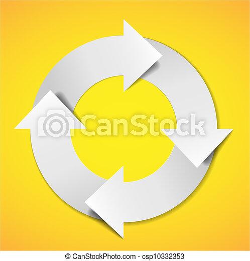 Vector life cycle diagram - csp10332353
