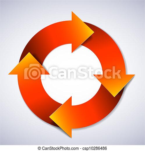 Vector life cycle diagram - csp10286486