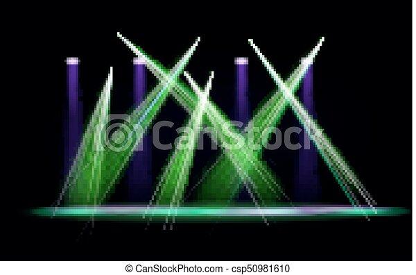 Line Art Effect Photo : Vector light effect spotlight with transparent background