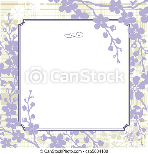 Vector Lilac Background and Frame - csp5804180