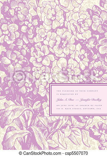 Vector Lilac Background and Mini Frame - csp5507070