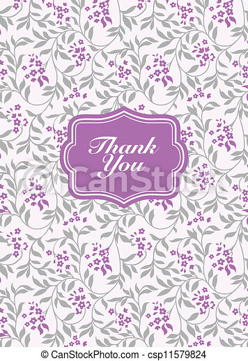 Vector Lilac Frame and Background - csp11579824